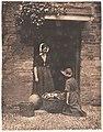 -Two Women, One Kneeling and One Standing, Looking into Basket Filled with Vegetables- MET DP143479.jpg