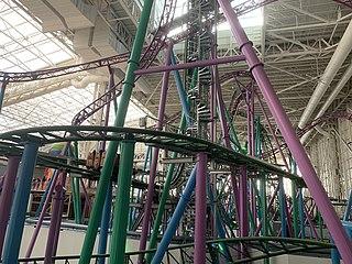TMNT Shellraiser steel roller coaster at Nickelodeon Universe at American Dream Meadowlands