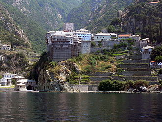 Monk - Monastery of St. Dionysius on Mount Athos.