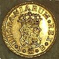 """1-2 Escudo (Oro) de Fernando VI con """"ceca"""" de Madrid 1750 Reverso.jpg"""
