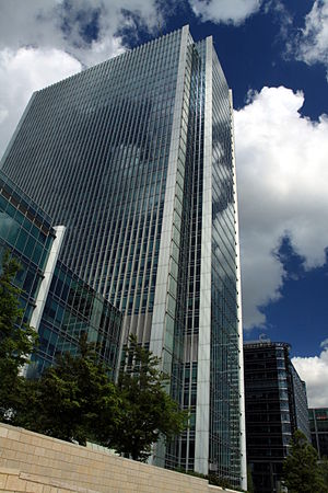 Legal services in the United Kingdom - The headquarters of Clifford Chance in Canary Wharf, London
