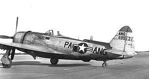 112th Air Refueling Group - 112th Fighter Group F-47N 44-8913 at Pittsburgh Airport