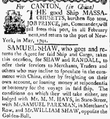 1789 Shaw Canton MassachusettsCentinel Boston Dec5.png