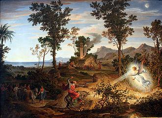 Joseph Anton Koch - Koch Landscape with  Bileam  1834
