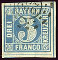 1849 Bayern 3kr Mi2II 232 File0150.jpg