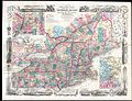 1856 Colton Pocket Map of New England ^ New York - Geographicus - NewEnglandPkt-colton-1856.jpg