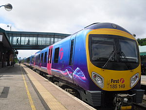 First TransPennine Express Class 185 at Meadowhall Interchange in 2011