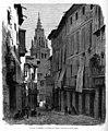 1864-03-20, El Museo Universal, Vista de la torre de la catedral de Toledo, tomada desde la calle Ancha, Ruiz.jpg