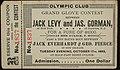 1893 Jack Levy vs James Gorman Boxing Ticket Olympic Club New Orleans.jpg