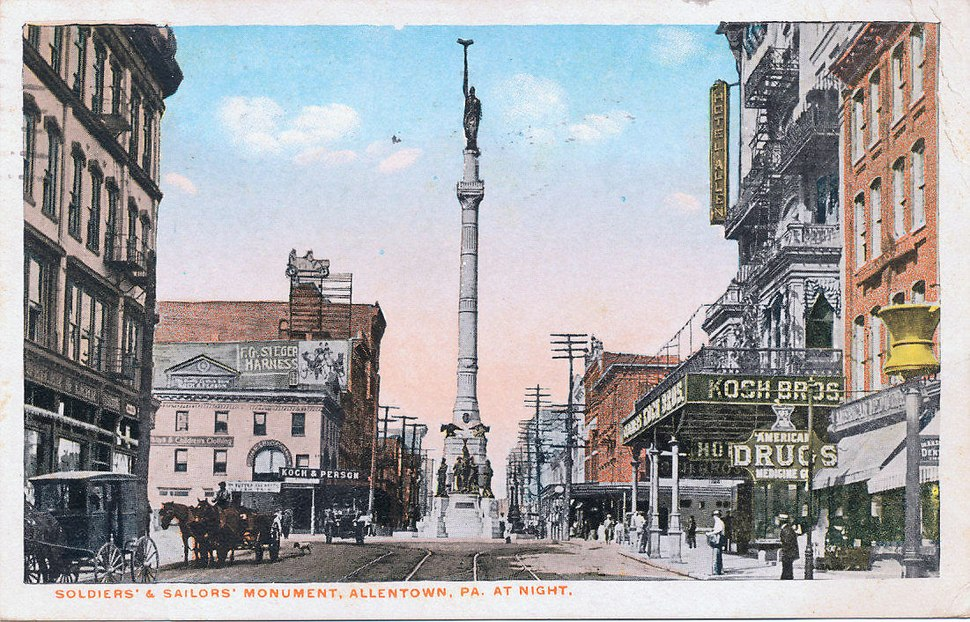 1910 - Center Square Looking West
