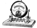 1911 Britannica - Shunted Movable Coil Ammeter.png