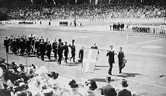 Greece at the 1912 Summer Olympics - The team of Greece at the opening ceremony.