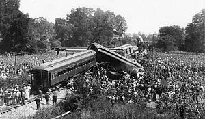 Great Train Wreck of 1918 - Image: 1918trainwreck