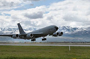 Utah Air National Guard - Image: 191st Air Refueling Squadron KC 135 landing