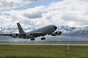 191st Air Refueling Squadron KC-135 landing.jpg