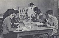 1950s Afghanistan - Biology class, Kabul University.jpg