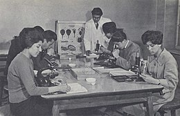 1950s Afghanistan - Biology class, Kabul University.jpg