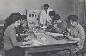 Kabul University - Biology class during the late 1950s or early 1960s.