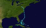 1963 Tempesta tropicale atlantica 1 track.png