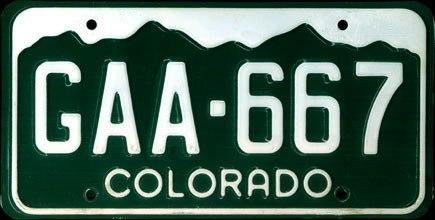1983 Colorado License Plate