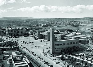 Ankara railway station - View of 19 May Square and the Ankara Railway Station taken in the 1940s