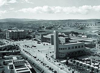 Ankara railway station - View of 19 May Square and the Ankara Railway Station taken in the 1940s