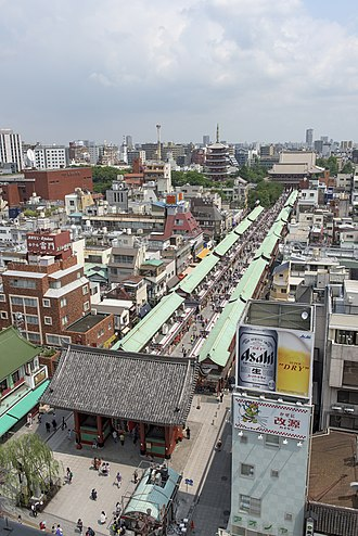 Asakusa - Aerial view of Asakusa