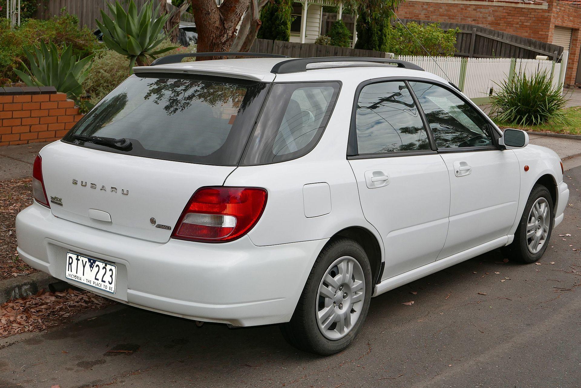 Subaru Impreza Second Generation Wikipedia