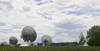 Ground station - The Raisting Satellite Earth Station is the largest satellite communications facility in Germany.