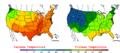2005-06-06 Color Max-min Temperature Map NOAA.png