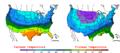 2005-12-04 Color Max-min Temperature Map NOAA.png