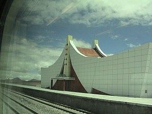 Tanggula Railway Station - Tanggula railway station building