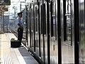 2007-08-26 JR- Yakujin Station,Kakogawa Line JNR103系改造車両 横尾忠則「走れ!Y字路」 8260240.JPG