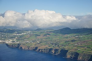 Lagoa, Azores - A view of the varied landscapes, including urban centre, rural pasturelands and mountainous interior