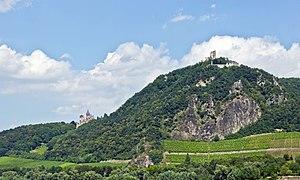 Drachenfels (Siebengebirge) - Drachenfels, view from Mehlem