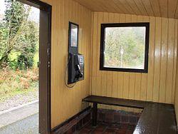 2013 at Coombe Junction Halt - inside the shelter.jpg