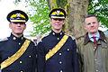 2014-05-01 Reise von Georg I. von Hannover nach London,(1439) 2nd Lt. Edward Mitchell, 2nd Lt. Alex Stewart and Major i.G.Christoph Kahnert.jpg