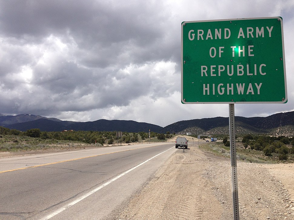 2014-05-21 12 13 35 Sign for Grand Army of the Republic Highway along U.S. Route 6 westbound in Ely, Nevada