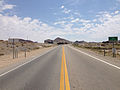 2014-07-17 12 14 17 View east along U.S. Route 6 and south along U.S. Route 95 at the border between Nye County and Esmeralda County in Tonopah, Nevada.JPG