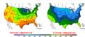 2015-10-17 Color Max-min Temperature Map NOAA.png