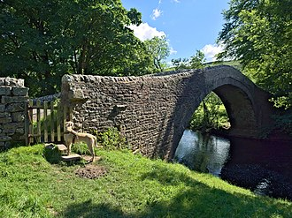 All Creatures Great and Small (TV series) - Ivelet Bridge, an ancient bridge over the River Swale.
