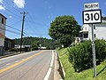 2017-07-30 15 57 50 View north along West Virginia State Route 310 (Country Club Road) at U.S. Route 50 (Northwestern Turnpike) in Grafton, Taylor County, West Virginia.jpg