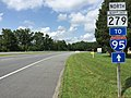 2017-08-12 15 02 03 View north along Maryland State Route 279 (Elkton Road) at U.S. Route 40 (Pulaski Highway) in Bacon Hill, Cecil County, Maryland.jpg