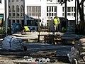 2017-10-26, Umbau des Verkehrsknotens am Siegesdenkmal in Freiburg, Neubau des Sockels für das Siegesdenkmal.jpg