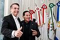 2019 Presidente da República, Jair Bolsonaro durante a transmissão de cargo para o Vice-Presidente da República, Hamilton Mourão - 32558133687.jpg