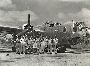 No. 21 Squadron RAAF - The crew of a No. 21 Squadron Liberator at Fenton Airfield, Northern Territory