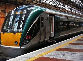 Dublin–Sligo railway line - 22000 Class DMU (22020) at Dublin Connolly forming a service to Sligo.