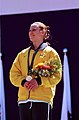 261000 - Athletics track 200m T20 Lisa Llorens gold medal podium - 3b - 2000 Sydney medal photo.jpg