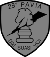 "28th Regiment ""Pavia"" Shoulder Sleeve Insignia.png"