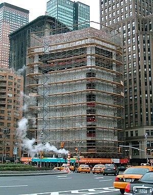 2 Columbus Circle - During facade reconstruction